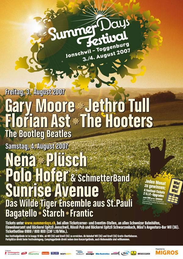 Plakat Summerdays Festival 2007