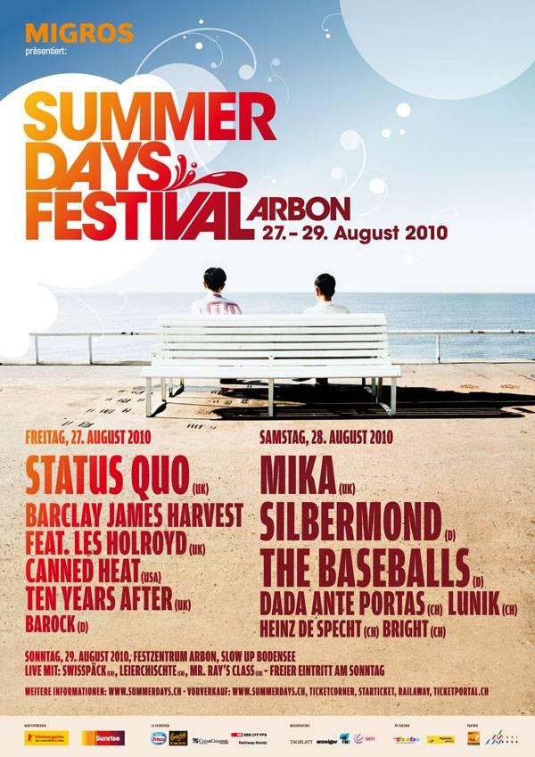 Plakat Summerdays Festival 2010
