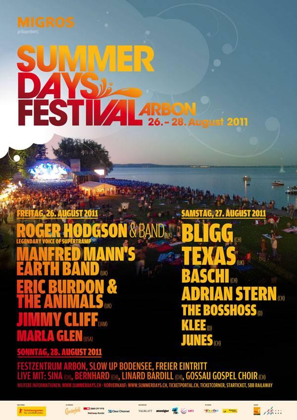 Plakat Summerdays Festival 2011