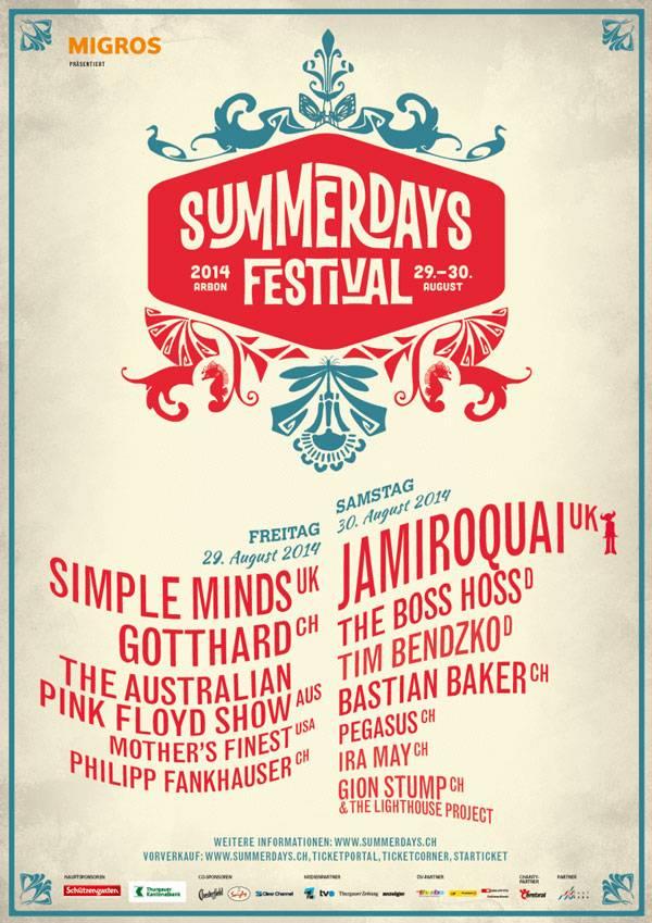 Plakat Summerdays Festival 2014
