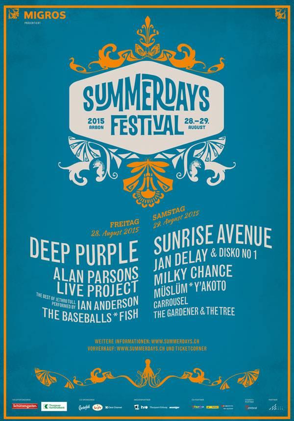 Plakat Summerdays Festival 2015