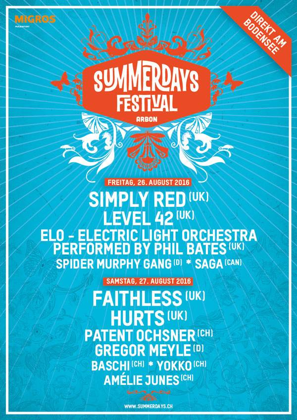 Plakat Summerdays Festival 2016