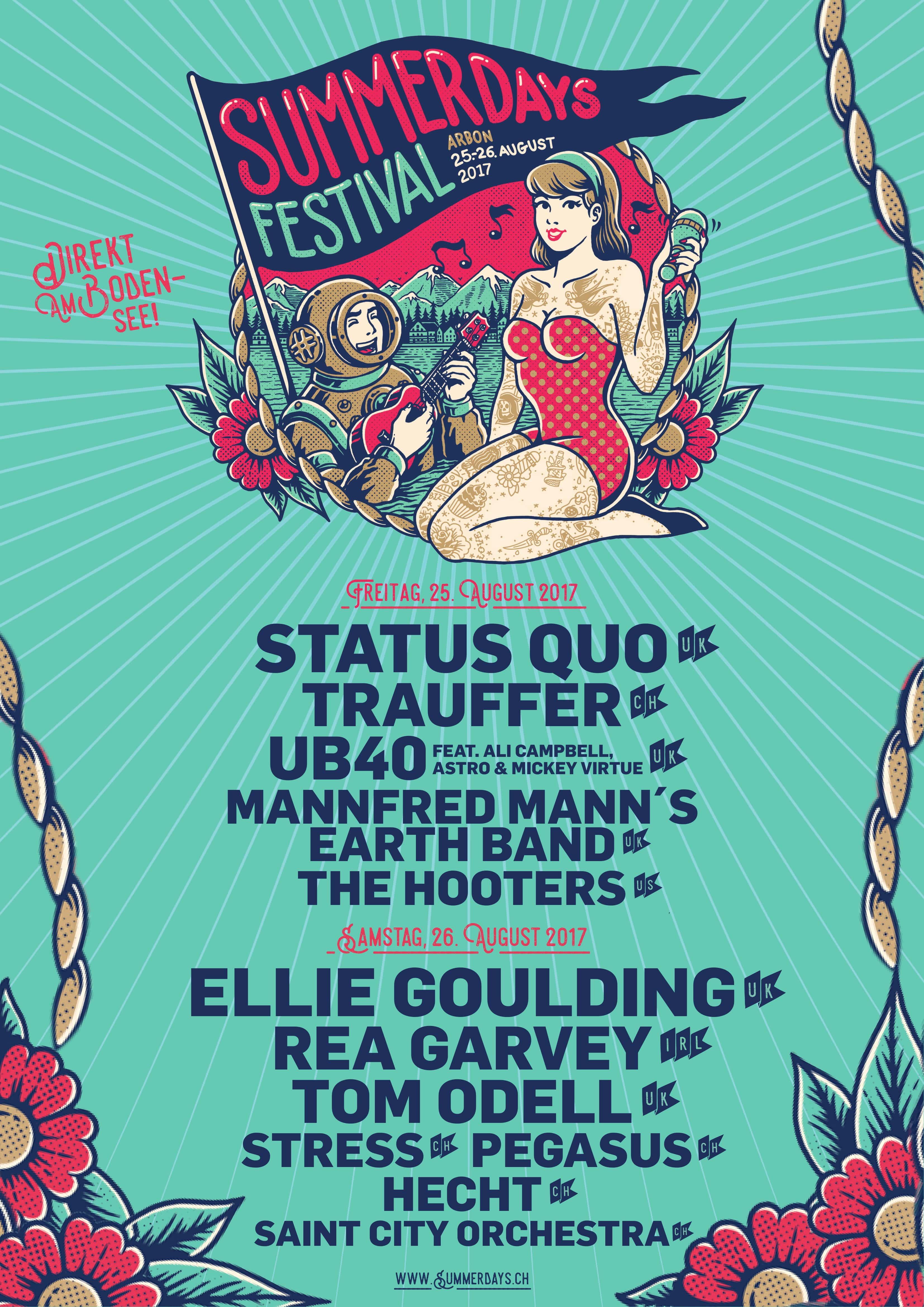 Plakat Summerdays Festival 2017
